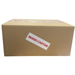 Perforated Labeltape mixed Carton""