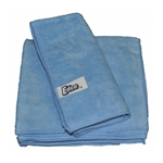 This is an image of Edco blue microfibre cloth use damp or dry without chemical from ABL Distribution Pty Ltd