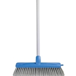 This is an image of General purpose indoor broom with handle, perfect for collecting small particles and dust from ABL Distribution Pty Ltd