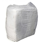 This is an image of White T-shirt rags great for printers, boats, furniture, glass and polishing. High grade, low lint from ABL Distribution Pty Ltd