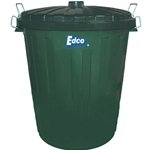 This is an image of 73L Plastic Garbage Bin with lid made from superior plastic, heavy duty from ABL Distribution Pty Ltd