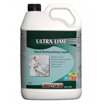 This is an image of Ultra Lime Hand Dish Washing Liquid that is super concentrated for tough work from ABL Distribution Pty Ltd