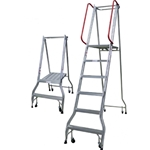 This is an image of Monstar Platform Ladders Series, Robust with fully welded construction from ABL Distribution Pty Ltd