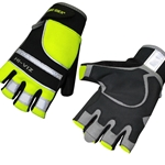 This is an image of Hi Vis Fingerless Gloves for extra dexterity from ABL Distribution Pty Ltd