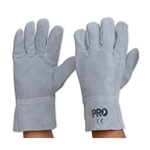 A Grade All Chrome Grey Leather Glove