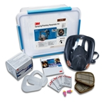 This is an image of 3M6851 respirator Kit, 3M 6000 series respirator for spray painting applications from ABL Distribution Pty Ltd