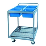 4 Tub Picking Trolley With Clipboard
