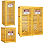 This is an image of Forklift Cylinder Storage Cages to store flammable gas cylinders in your workplace from ABL Distribution Pty Ltd