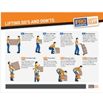 Lifting Do's And Don'ts Sign