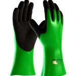 This is an image of Maxichem Chemical Resistant Gloves with non slip grip for wet of oily applications from ABL Distribution Pty Ltd