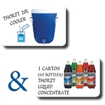 This is an image of Thorzt Starter Kit Cooler & Liquid Concentrate from ABL Distribution Pty Ltd
