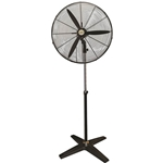 This is an image of Industrial pedestal fan for the warehouse. 3 speed, 3 750mm blades from ABL Distribution Pty Ltd