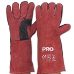 This is an image of Red Kevlar Welders Glove