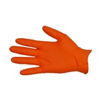 This is an image of Nitrile Orange Disposable Gloves